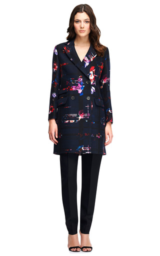 Printed Double Breasted Coat by MSGM Now Available on Moda Operandi
