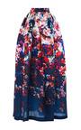 Floral Print Gazar Midi Skirt by MSGM Now Available on Moda Operandi