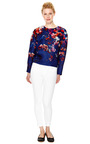 Floral Printed Gazar Top by MSGM Now Available on Moda Operandi