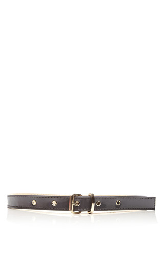 Leather Belt by MSGM Now Available on Moda Operandi