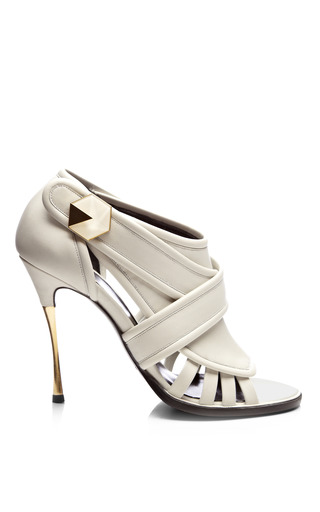 Medium nicholas kirkwood white leather open toe cage sandals