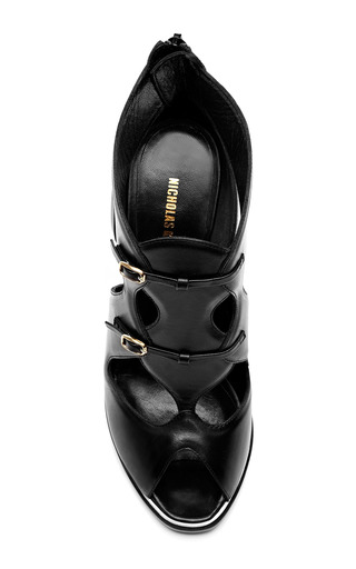 Leather Open Toe Sandals by NICHOLAS KIRKWOOD Now Available on Moda Operandi