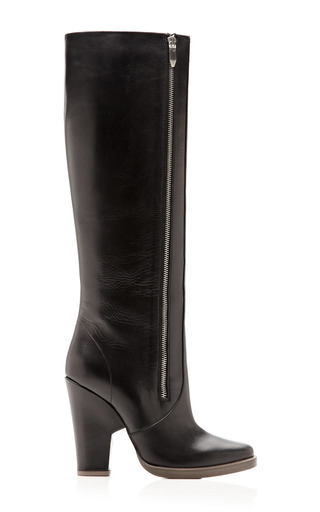 Medium theyskens theory black eames atello tall leather boots