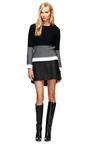 Swick Neasy Angled Hem Leather Skirt by THEYSKENS' THEORY Now Available on Moda Operandi