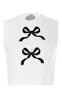 Bibi Bow Embellished Cropped Wool Tank by VIVETTA Now Available on Moda Operandi