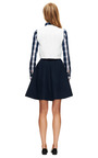 Lilith Bow Embellished High Waisted Skirt by VIVETTA Now Available on Moda Operandi