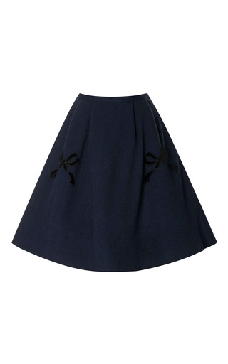 Medium vivetta blue lilith bow embellished high waisted skirt