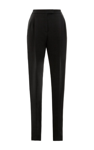 Medium valentino black wool blend straight leg pants