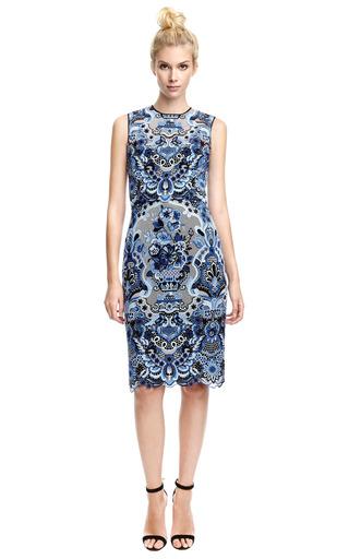 Sleeveless Guipure Lace Dress by VALENTINO Now Available on Moda Operandi