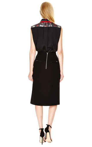 Robyn Blouse With Contrast Collar by PREEN BY THORNTON BREGAZZI Now Available on Moda Operandi