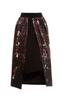 Trace Crepe Skirt With Printed Front Overlay by PREEN BY THORNTON BREGAZZI Now Available on Moda Operandi