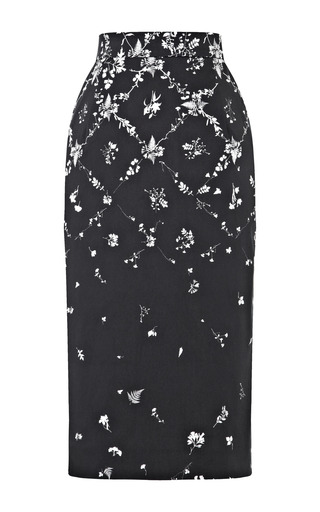 Aiden Printed Drill Skirt by PREEN BY THORNTON BREGAZZI Now Available on Moda Operandi