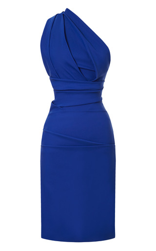 Medium preen blue plaza satin dress