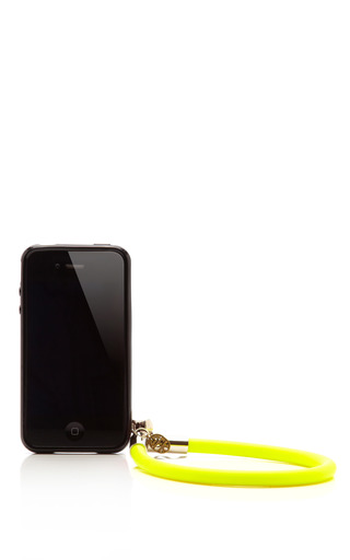 Lemon Drop I Phone Case With Bracelet by SFK Now Available on Moda Operandi