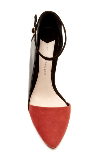 Val Suede Pointed Toe Pump With Ankle Strap by DEREK LAM 10 CROSBY Now Available on Moda Operandi