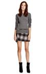 Ombre Plaid Wool Blend Asymmetric Skirt by DEREK LAM 10 CROSBY Now Available on Moda Operandi