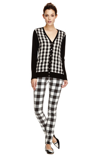 Cotton Velvet Slim Plaid Jeans by DEREK LAM 10 CROSBY Now Available on Moda Operandi