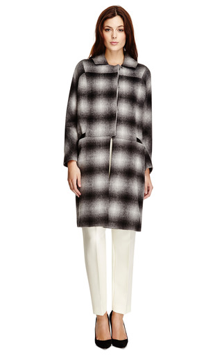 Ombre Plaid Wool Blend Oversized Coat by DEREK LAM 10 CROSBY Now Available on Moda Operandi