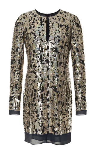 Silk Sequin Embellished Shift Dress by DEREK LAM 10 CROSBY Now Available on Moda Operandi
