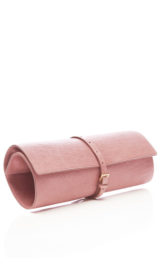 Lamb Leather Textured Roll Clutch by ROCHAS Now Available on Moda Operandi
