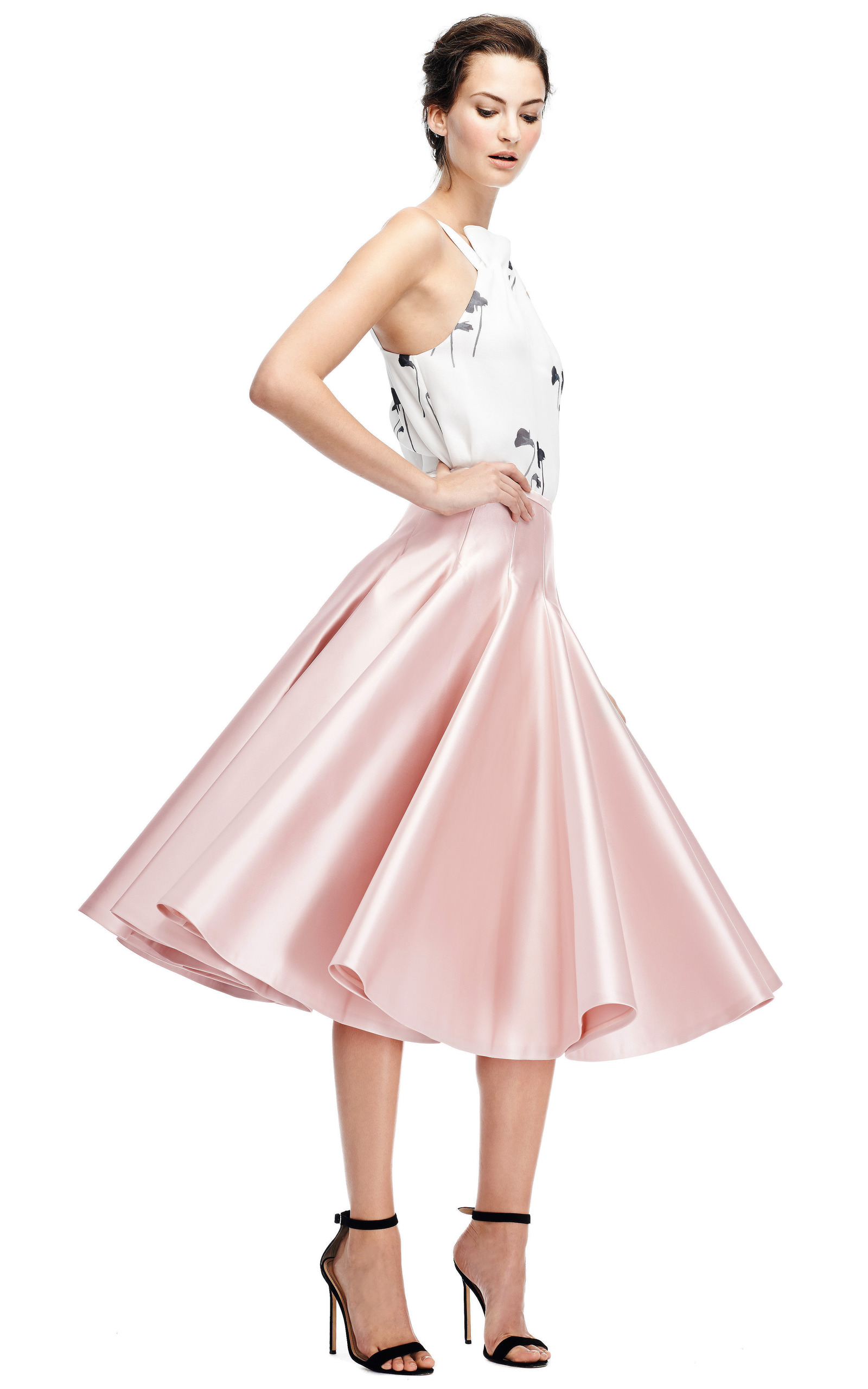 duchesse satin a line skirt by rochas moda operandi