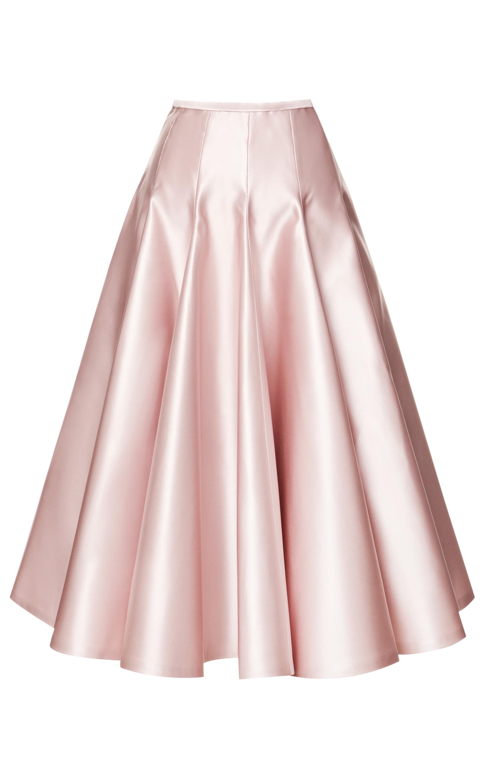 Duchesse Satin A-Line Skirt by Rochas | Moda Operandi
