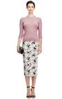 Silk Satin Jacquard Midi Skirt by ROCHAS Now Available on Moda Operandi