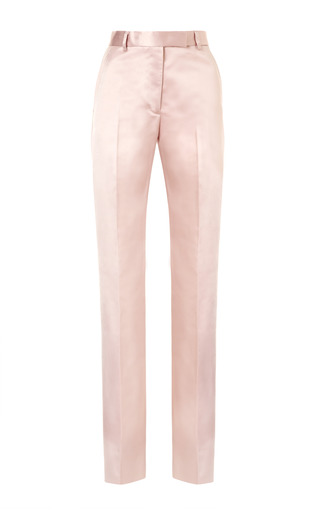 Medium rochas pink duchesse satin pants