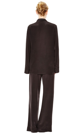 Silk Pajama Blouse With Oversized Pocket Detail by ROCHAS Now Available on Moda Operandi