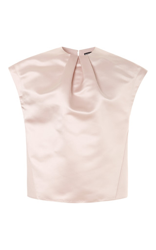 Medium rochas pink duchesse satin top