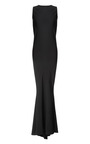 Stretch Cady Gown With Deep V Back by ROCHAS Now Available on Moda Operandi