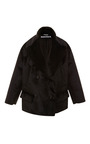 Double Breasted Oversized Faux Fur Jacket by ROCHAS Now Available on Moda Operandi