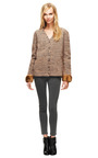 Knitted V Neck Cardigan With Faux Fur Cuff by ROCHAS Now Available on Moda Operandi