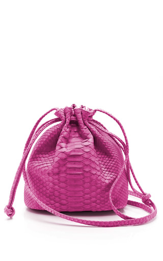Medium hunting season pink pink python small drawstring sac