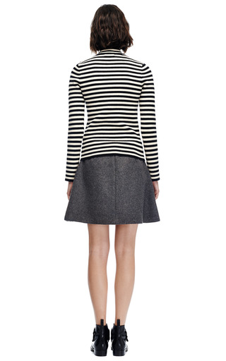 Wool Blend Quilted Front Skirt by THAKOON ADDITION Now Available on Moda Operandi