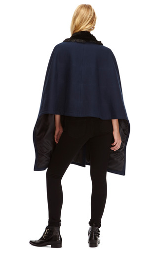 Faux Fur Collared Cape by THAKOON ADDITION Now Available on Moda Operandi