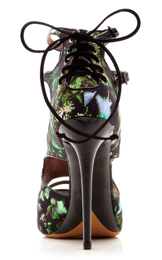 Bailey Floral Printed Satin Sandals by TABITHA SIMMONS Now Available on Moda Operandi