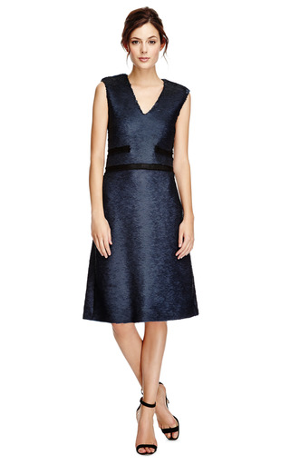 Sequin Embellished V Neck Dress by THAKOON Now Available on Moda Operandi
