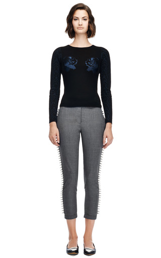 Strike Sweater With Embroidery Detail by OPENING CEREMONY Now Available on Moda Operandi