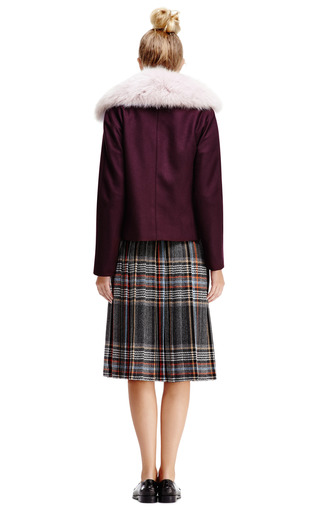 Cash Wool Jacket With Fox Fur Collar by OPENING CEREMONY Now Available on Moda Operandi