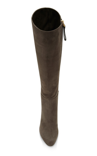Kalika Suede Knee Boots by SERGIO ROSSI Now Available on Moda Operandi