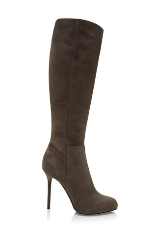 Medium sergio rossi black kalika suede knee boots