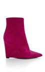 Ava Suede Wedge Ankle Boots by SERGIO ROSSI Now Available on Moda Operandi