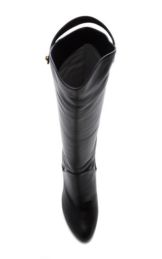 Plonge Leather Knee Boot by SERGIO ROSSI Now Available on Moda Operandi