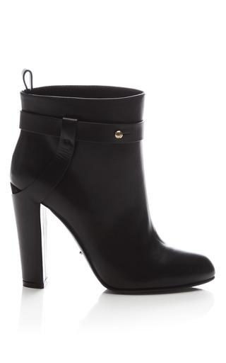 Medium sergio rossi black leather ankle boot