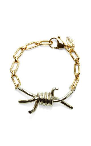 Barbed Wire Metal Bracelet by RODARTE Now Available on Moda Operandi