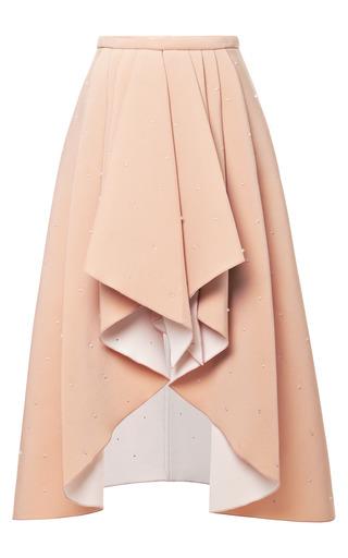 Medium rodarte nude 3d bead embellished foam skirt