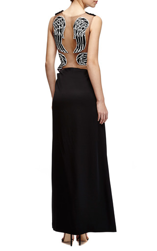 Embellished Silk Charmeuse And Tulle Gown by RODARTE Now Available on Moda Operandi