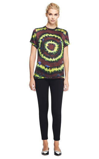 Silk Satin Tie Dye T Shirt by RODARTE Now Available on Moda Operandi
