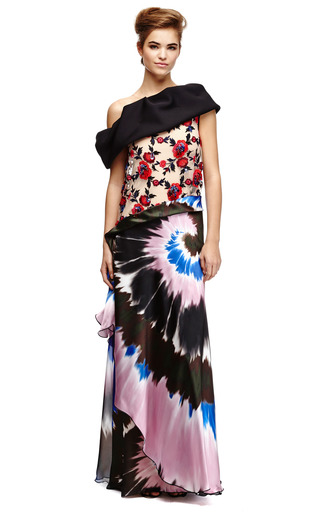 M'o Exclusive: Embellished Silk Satin Printed Gown by RODARTE Now Available on Moda Operandi